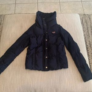 Hollister Quilted Navy Jacket Small